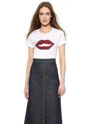 DSquared2 Smoking Lips T-Shirt  - Lyst