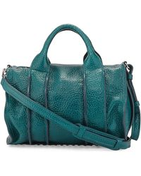 Alexander Wang Inside-out Rocco Pebbled Leather Satchel Bag - Lyst