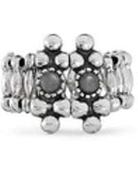 Philippe Audibert 'Han' Agate Metal Elastic Ring - Lyst