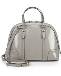 Gucci Nice Microssima Patent Leather Top Handle Bag - Lyst