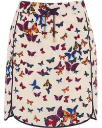 Oasis Butterfly Piped Sporty Skirt - Lyst