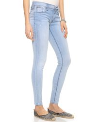 Hudson Nico Mid Rise Super Skinny Jeans Young Love - Lyst