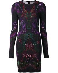 Alexander McQueen Black Jersey Dress - Lyst