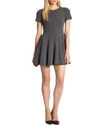 Tibi Tweed Fit--flare Dress - Lyst