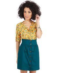 Tropical Wear Curry Your Enthusiasm Skirt In Peacock - Lyst