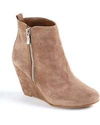 BCBGeneration - Weslee Suede Wedge Ankle Boots - Lyst