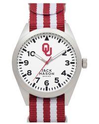 Jack Mason Brand - 'oklahoma University Sooners' Stripe Nato Strap Watch - Lyst