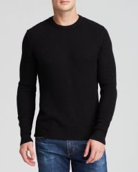 Michael Kors Grey Heather Thermal Crewneck Sweater - Lyst