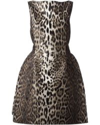 Lanvin Animal Leopard Dress - Lyst