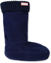 Hunter Ribbed-cuff Fleece Welly Socks - Lyst
