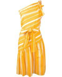 Yves Saint Laurent Vintage Tie Striped Dress - Lyst