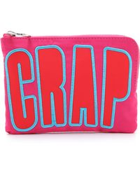 House of Holland - Nylon Pouch With Lettering - Pink - Lyst
