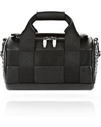 Alexander Wang - Runway Studded Small Duffel Bag In Black With Rhodium - Lyst