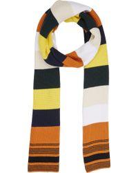 Loewe Wide-stripe Sweater Scarf - Lyst
