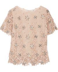 Day Birger Et Mikkelsen Organi Embellished Crocheted Cotton Top - Lyst