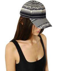 Fausto Puglisi - Printed Stretch Cotton Denim Hat - Lyst