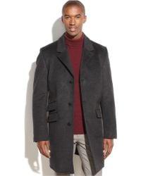 Vince Camuto - Wool-Blend Water-Repellent Top Coat - Lyst