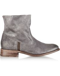 NDC Sandrine Softy Metallic Suede Ankle Boots - Lyst