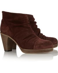 Fiorentini + Baker Birgy Ruched Suede Ankle Boots - Lyst