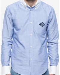 Band Of Outsiders Ls Button Down Monogram Shirt - Lyst