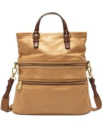 Fossil Explorer Leather Tote - Lyst