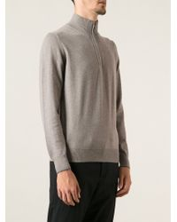 Fay Zip Front Sweater - Lyst