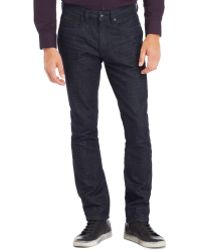Kenneth Cole Reaction Straight-fit Dark Wash Jeans - Lyst