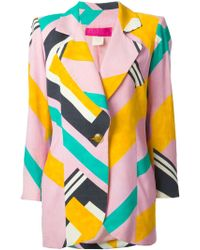 Christian Lacroix Geometric Print Skirt Suit - Lyst