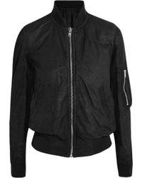 Rick Owens Brushed-leather Bomber Jacket - Lyst