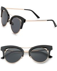 Steve Madden - Round 70mm Cats Eye Sunglasses - Lyst