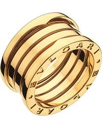 bvlgari bzero1 fourband 18ct yellowgold ring lyst