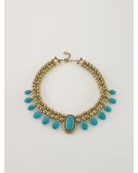 Ralph Lauren Turquoise-Hued Collar Necklace - Lyst