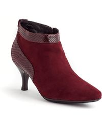 Aquatalia by Marvin K Max Suede And Snakeskin Leather Ankle Boots - Lyst