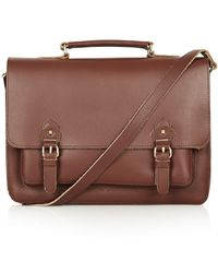 Topshop Classic Leather Satchel - Lyst