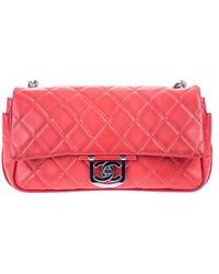 Chanel   Pre-owned: Icon Secret Label Jumbo Flap Shoulder Bag   Lyst