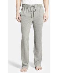 Daniel Buchler Men'S Brushed Cotton Lounge Pants - Lyst