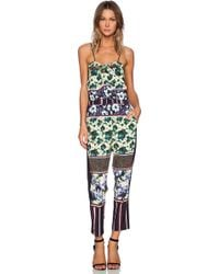 Clover Canyon Floral Collage Jumpsuit - Lyst