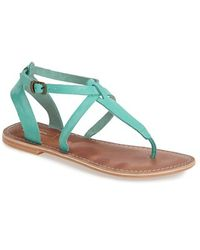 Topshop 'Horizon' Leather Sandal green - Lyst