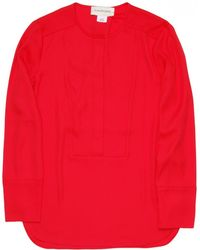 By Malene Birger | Flanora Blouse In Bright Chinese Red | Lyst