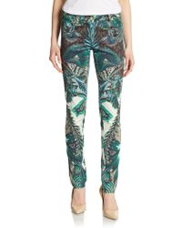Roberto Cavalli Tapestry Print Skinny Jeans - Lyst