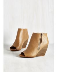BC Footwear - Kick And Choose Bootie In Tan - Lyst