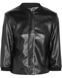 Karl Lagerfeld Joss Faux Leather Bomber Jacket - Lyst
