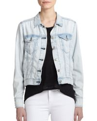 Rag & Bone/JEAN Bleachout Denim Jacket - Lyst