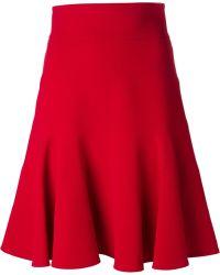 Dolce & Gabbana Pleated Hem Skirt - Lyst