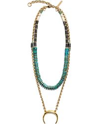 Lizzie Fortunato Snake Charmer Necklace gold - Lyst
