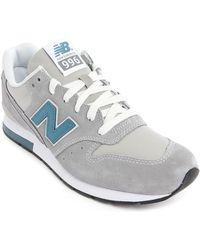 New Balance 996 Athletic Grey Leather Sneakers - Lyst