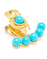 Yvonne Léon 18K Gold And Turquoise Pearl Stud Earring blue - Lyst