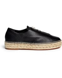 Alexander Wang | 'devon' Zip Leather Espadrille Sneakers | Lyst