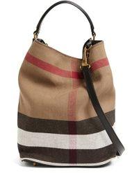 Burberry Brit - 'susanna - Medium' Bucket Bag - Lyst