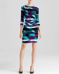 Calvin Klein Geometric Print Dress - Lyst